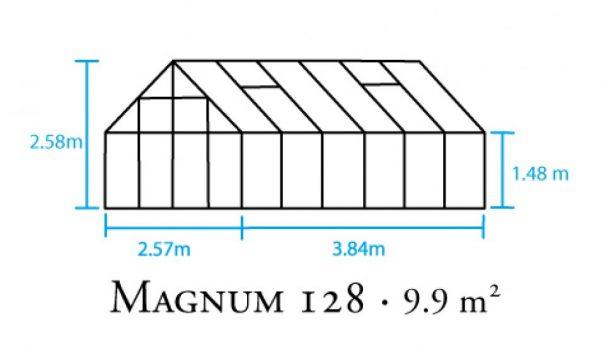 Serre de jardin classique - 2.57x3.84m - Magnum 128 - Halls - 9.9m² (Vue 4)