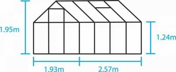 Petite serre de culture - 1.93x2.57m - Popular 86 - Halls - 5.0m² (Vue 5)