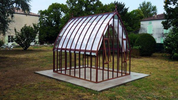 Verrière à l'ancienne style fer forgé - Structure aluminium - Eugénie Classique (Vue 0)