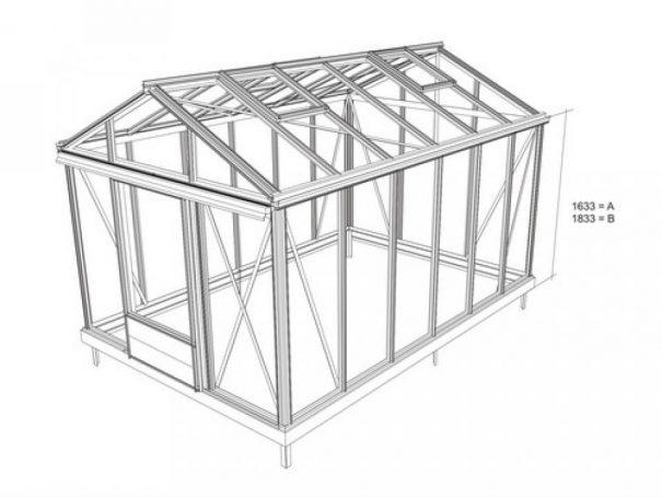 Serre de culture chaude - Structure aluminium - Tropic Maxi Alu (Vue 6)