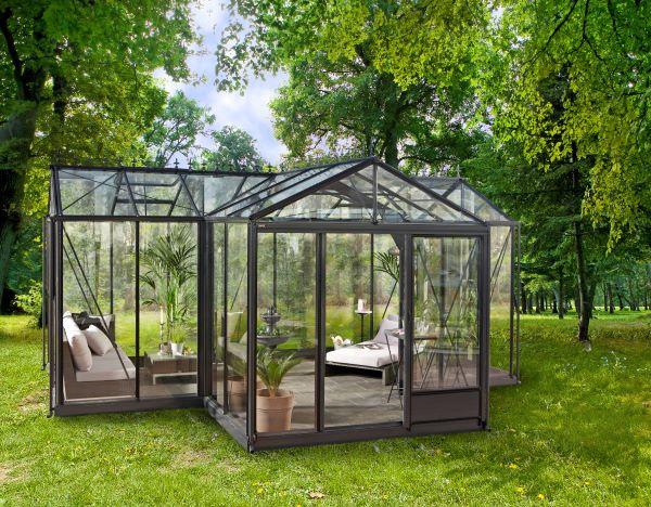 Serre d'ornement Orangerie gothique - Structure aluminium - Euro T Classic Victorian (Vue 3)