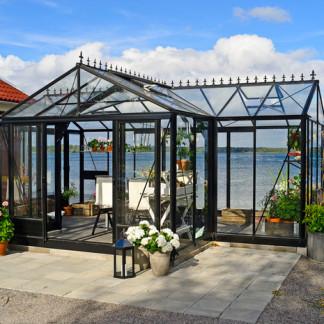 Serre d'ornement Orangerie gothique - Structure aluminium - Euro T Classic Victorian (Vue 0)
