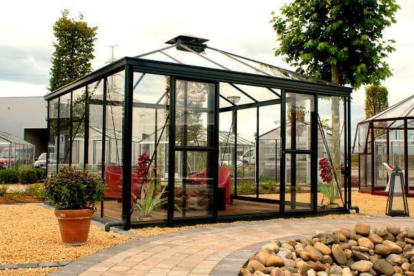 Serre quatre pentes style Victorien - Structure aluminium - Euro Pyra Victorian (Vue 3)