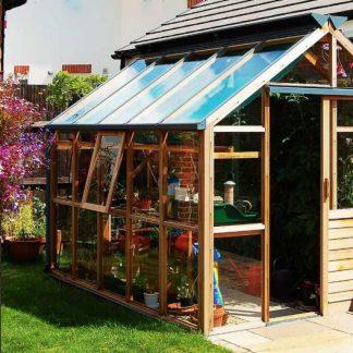 Serre de jardin moderne - Structure bois - Classic bois 6 design (Vue 0)