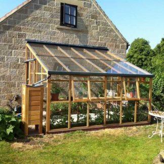 Serre de jardin adossée monopente - Structure bois - Classic bois 6 adossée (Vue 0)