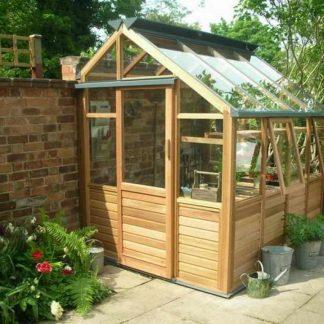 Serre de jardin moderne avec soubassement - Structure bois - Classic bois 6 design soubassement (Vue 0)