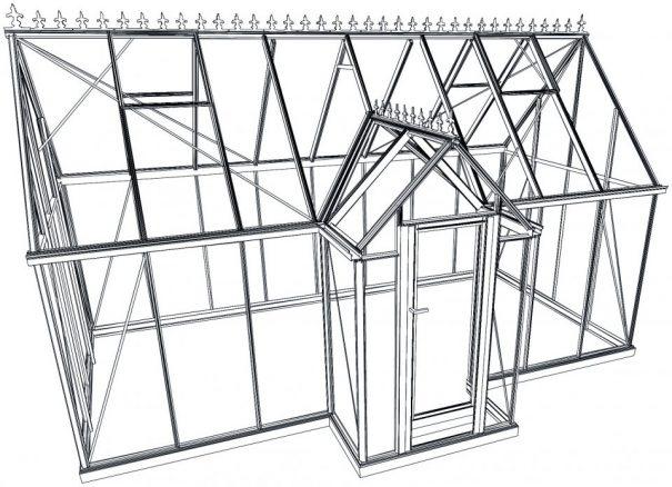 Pavillon de culture au style victorien - Structure aluminium - Victorian (Vue 2)