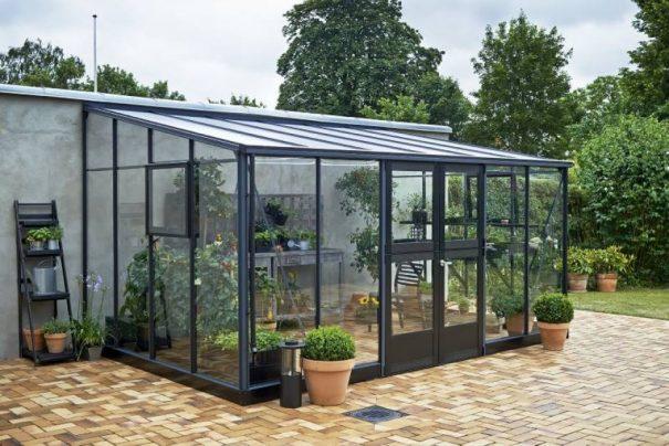 Serre de jardin monopente grande surface - 2.93x4.39m - Veranda - Juliana - 12.9m² (Vue 0)