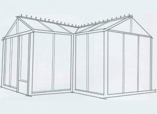 Serre d'ornement Orangerie gothique - Structure aluminium - Euro T Classic Victorian (Vue 7)