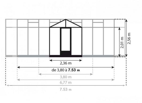Serre d'ornement Orangerie gothique - Structure aluminium - Euro T Classic Victorian (Vue 8)