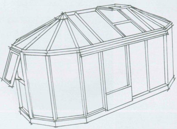 Kiosque de jardin - Structure aluminium - Euro Exotic Alu (Vue 2)