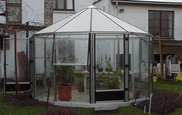 Kiosque de jardin hexagonal - Structure aluminium - Euro Rondon Alu (Vue 0)