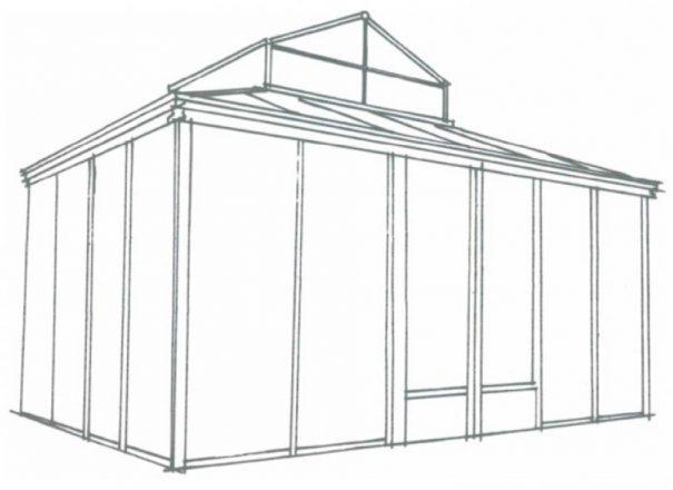 Serre d'agrément Orangerie - Structure aluminium - Euro Royal (Vue 3)