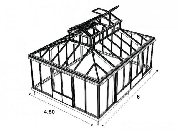 Serre d'agrément Orangerie - Structure aluminium - Euro Royal (Vue 4)