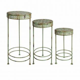 Tables gigognes - Finition métal patiné (Vue 0)
