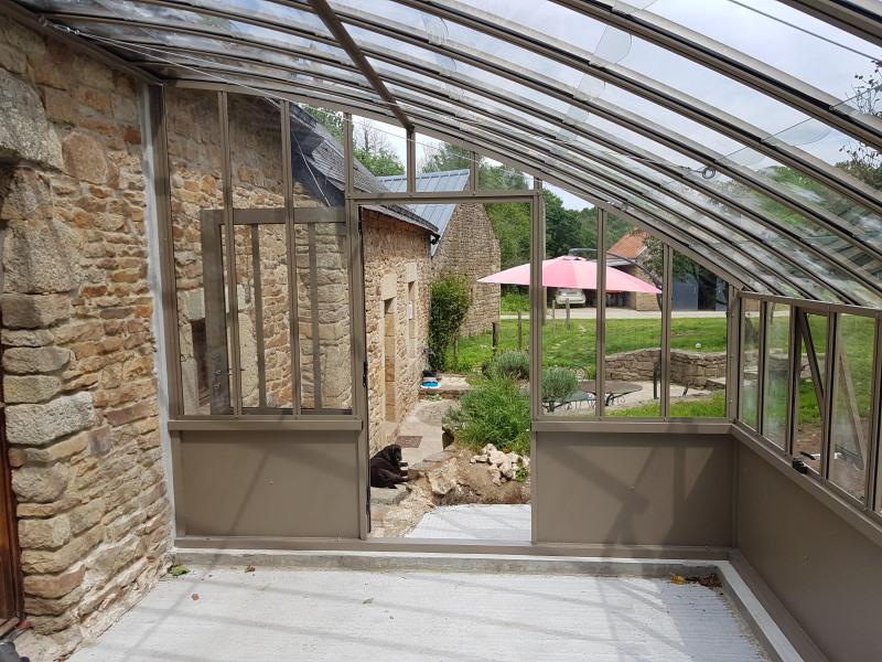 Installation d'une serre à l'ancienne adossé – Ploerdut (56 - Morbihan) vue 3