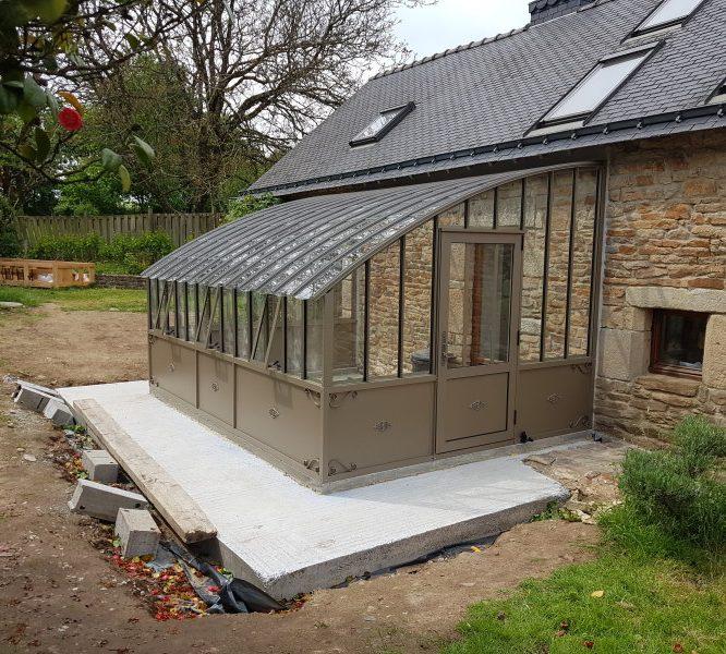 Installation d'une serre à l'ancienne adossé – Ploerdut (56 – Morbihan)