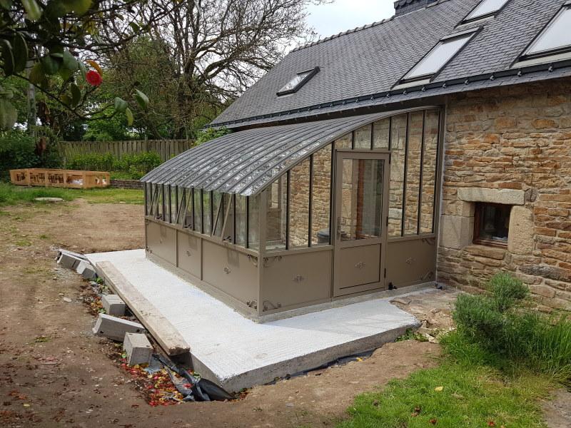 Installation d'une serre à l'ancienne adossé – Ploerdut (56 - Morbihan) vue 2