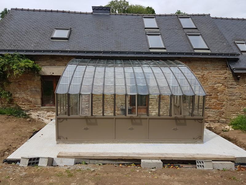 Installation d'une serre à l'ancienne adossé – Ploerdut (56 - Morbihan) vue 1