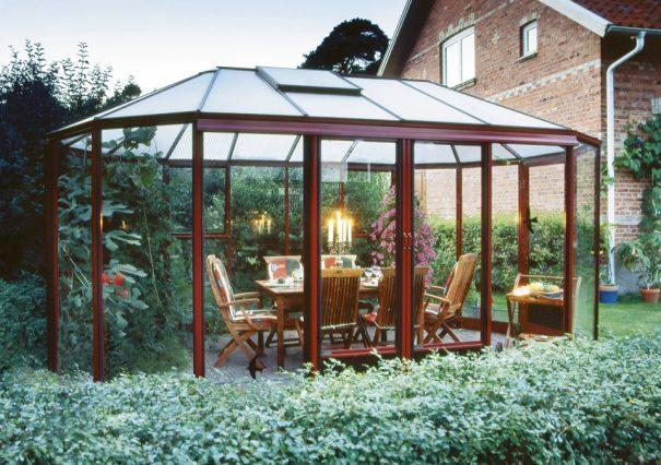 Kiosque de jardin style Victorien - Structure aluminium - Euro Exotic Victorian (Vue 2)