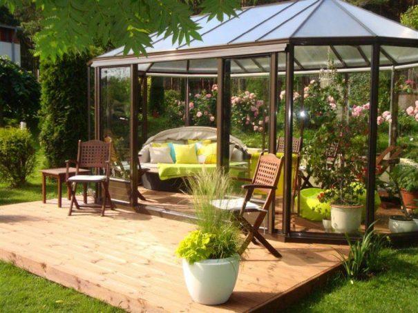 Kiosque de jardin style Victorien - Structure aluminium - Euro Exotic Victorian (Vue 3)