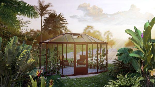 Kiosque de jardin style Victorien - Structure aluminium - Euro Exotic Victorian (Vue 1)