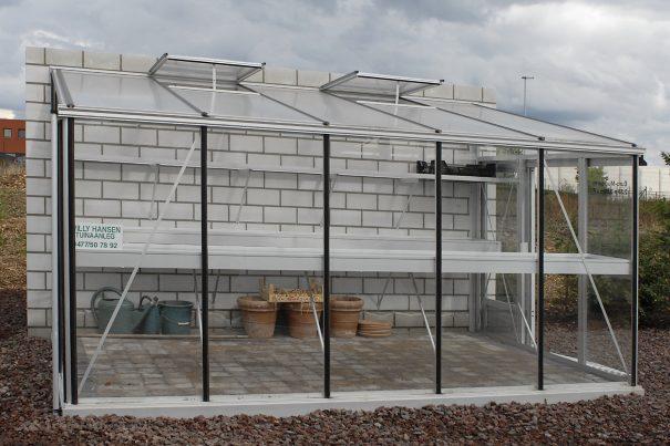 Serre de culture classique adossée - Structure aluminium - Euro Murale Alu (Vue 2)