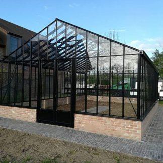 Serre à l'ancienne indépendante sur muret - structure aluminium - Euro Gothic Plus Mur Victorian (Vue 0)