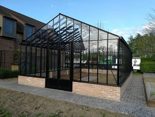 Serre victorienne indépendante sur muret - Structure aluminium - Euro Gothic Plus Mur Victorian