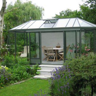 Kiosque de jardin style Victorien - Structure aluminium - Euro Exotic Victorian (Vue 0)