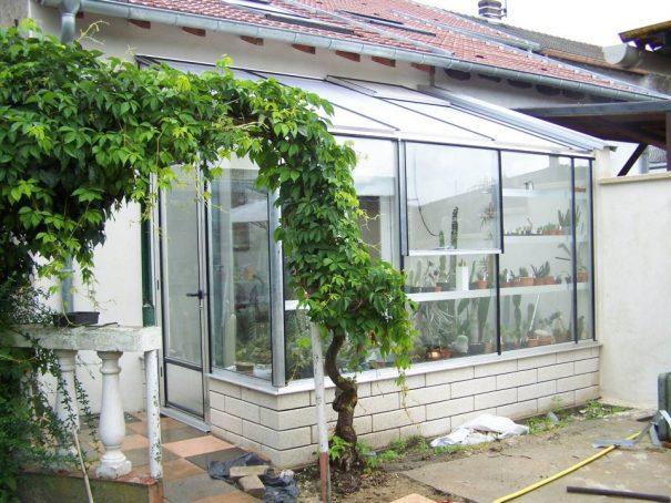Serre de culture tropicale monopente - Structure aluminium - Tropic Euro Murale Alu (Vue 1)