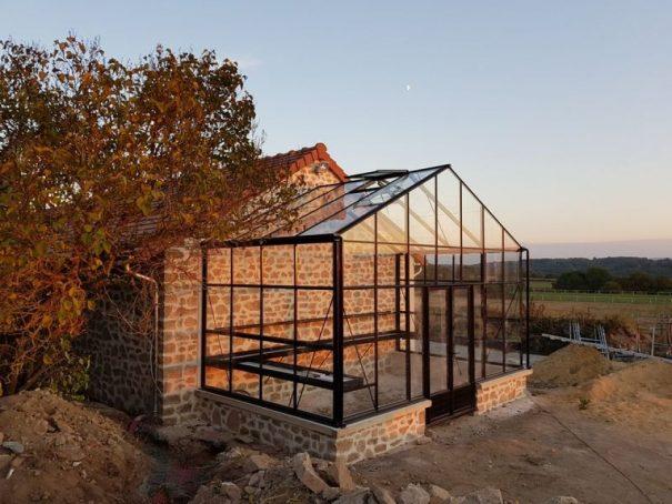 Serre victorienne indépendante sur muret - Structure aluminium - Euro Plus Mur Victorian (Vue 2)