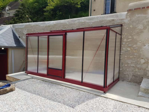 Serre de culture victorienne adossée - Structure aluminium - Euro Midi Victorian (Vue 4)