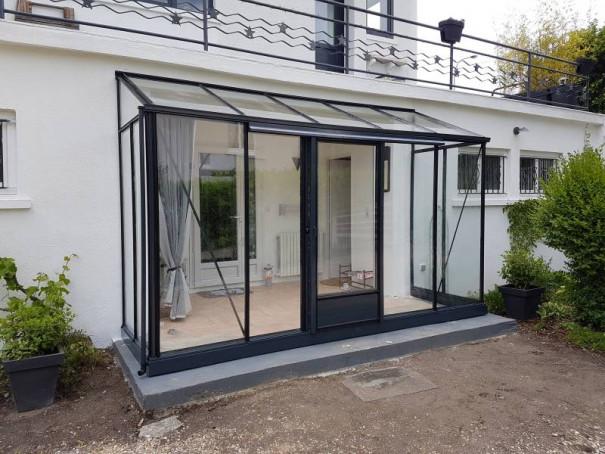 Serre de culture victorienne adossée - Structure aluminium - Euro Midi Victorian (Vue 5)