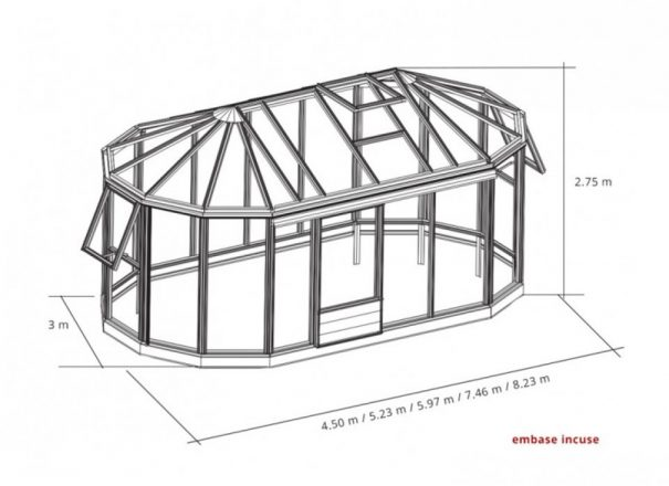 Kiosque de jardin style Victorien - Structure aluminium - Euro Exotic Victorian (Vue 4)