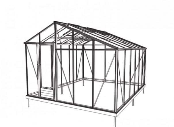 Serre originale et moderne - Structure aluminium - Euro Starr Alu (Vue 1)