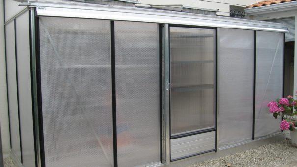 Serre de culture adossée - Structure aluminium - Euro Midi Alu (Vue 1)