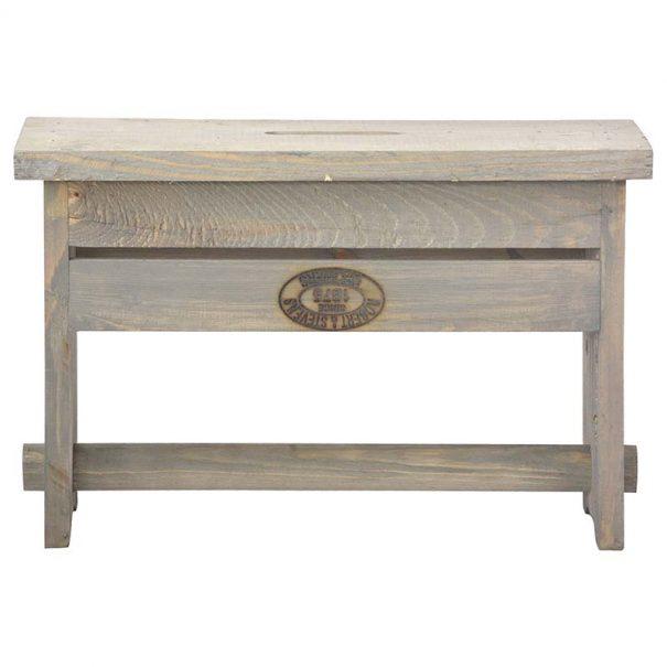 Caisse outils / Tabouret en bois (Vue 1)