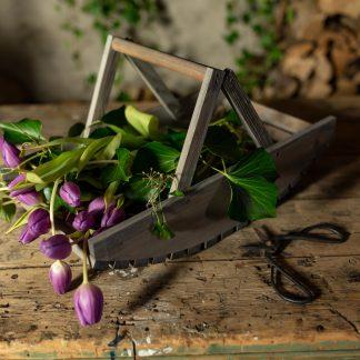 Panier cueillette de fleurs en bois (Vue 0)