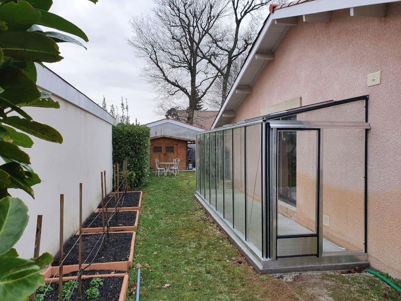 Installation d'une serre adossée - ANDERNOS LES BAINS (33 – Gironde) vue 1