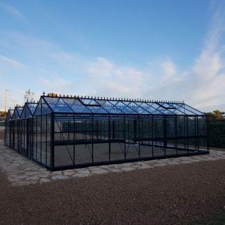 Double serre style anglais - Structure aluminium - Euro Super Victorian (Vue 0)