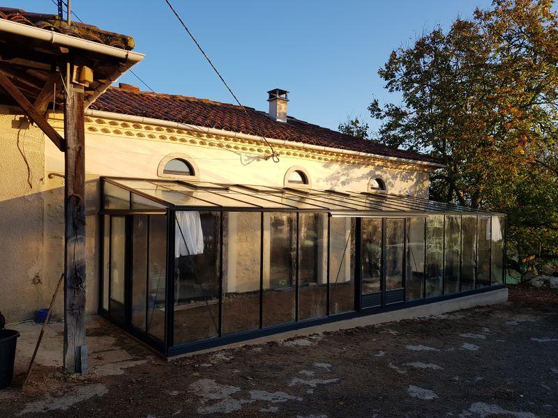 Réalisation d'une serre adossée - St Léon (31 – Haute-Garonne) vue 1