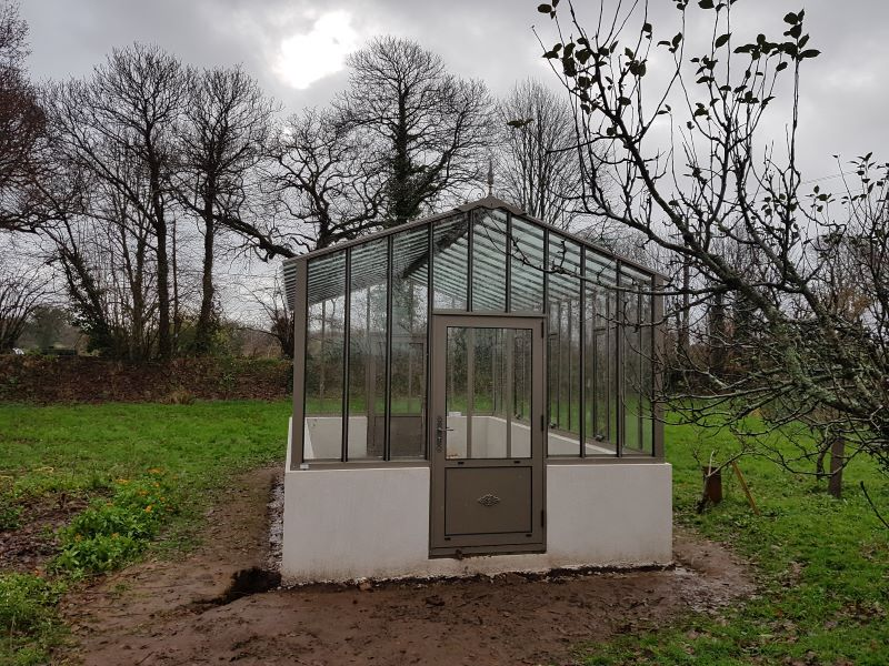Installation d'une serre à l'ancienne - Ergue Gaberic (29 - Finistère) vue 3