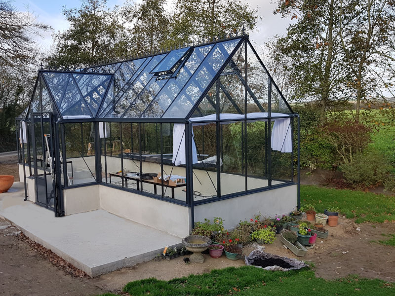 Installation d'une serre de culture pavillon - KERNOUES (29 – Finistère) vue 2