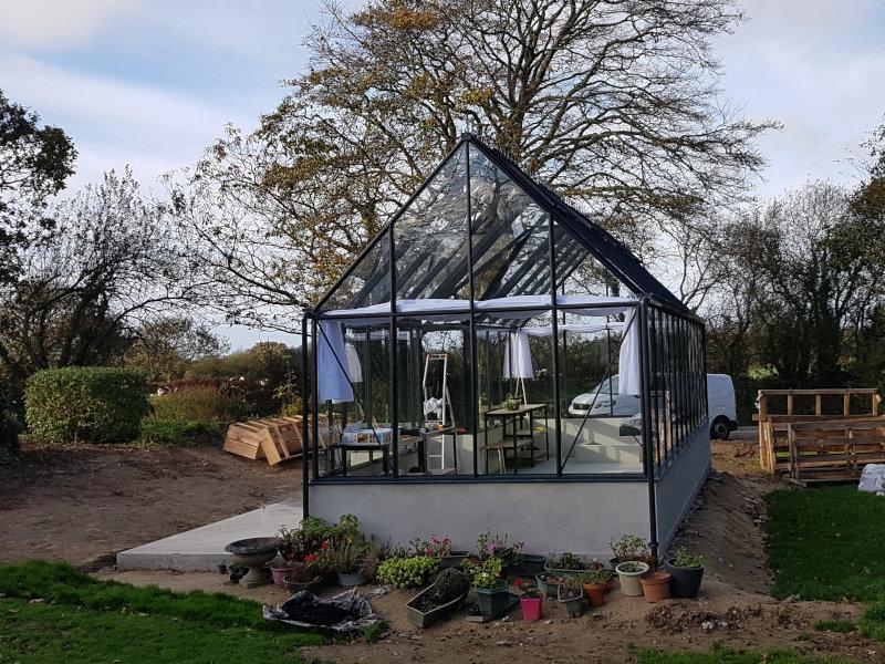 Installation d'une serre de culture pavillon - KERNOUES (29 – Finistère) vue 3