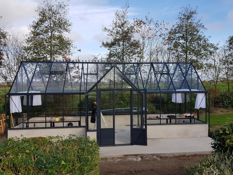 Installation d'une serre de culture pavillon - KERNOUES (29 – Finistère) vue 1