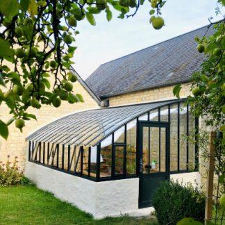 Serre à l'ancienne monopente sur muret - Structure aluminium - Éléonore sur Muret (Vue 0)