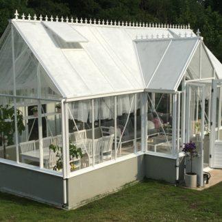 Pavillon de culture au style victorien sur muret - Structure aluminium - Victorian Mur Victorian (Vue 0)