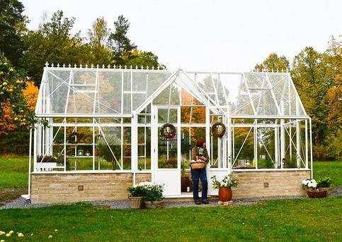 Pavillon de culture au style victorien sur muret - Structure aluminium - Victorian Mur Victorian (Vue 1)