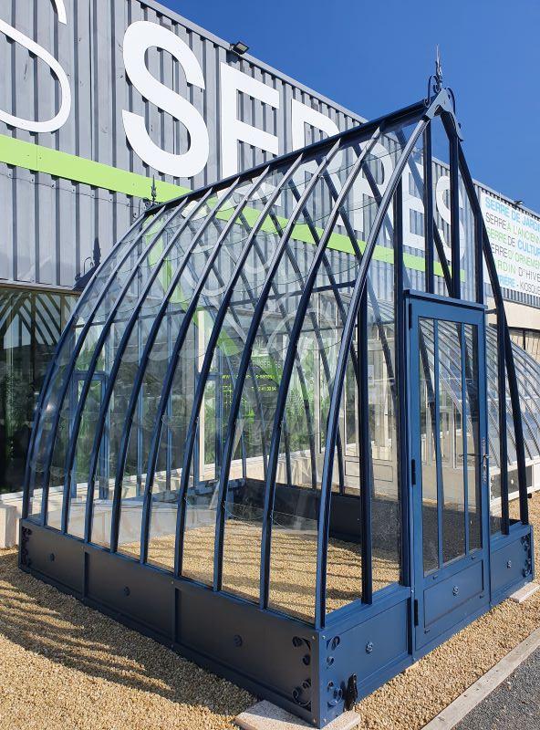Serre d'antan soubassement double pente - Structure aluminium - Louise soubassement vue5